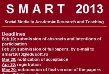 SMART 2013 - Social Media in Academia: Research and Teaching